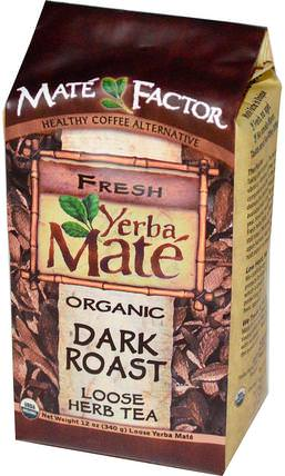 Organic Yerba Mate, Dark Roast, Loose Herb Tea, 12 oz (340 g) by Mate Factor, 食物,咖啡黑烤,涼茶,馬黛茶 HK 香港
