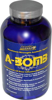 A-BOMB, Maximum Strength Anabolic Agent, 224 Tablets by Maximum Human Performance, 補充劑,氨基酸,合成代謝補品 HK 香港