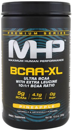 Premium Series, BCAA-XL, Pineapple, 10.6 oz (300 g) by Maximum Human Performance, 健康,能量,補充劑,氨基酸,bcaa(支鏈氨基酸) HK 香港
