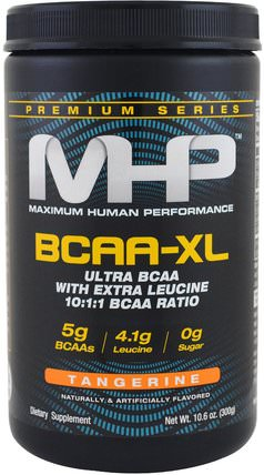 Premium Series, BCAA-XL, Tangerine, 10.6 oz (300 g) by Maximum Human Performance, 健康,能量,補充劑,氨基酸,bcaa(支鏈氨基酸) HK 香港