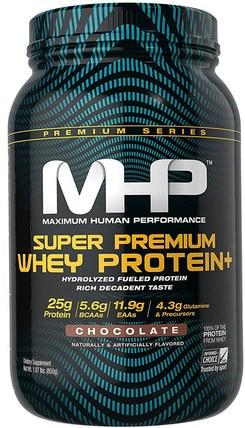 Super Premium Whey Protein, Chocolate, 1.87 lbs (850 g) by Maximum Human Performance, 補充劑,乳清蛋白,肌肉 HK 香港