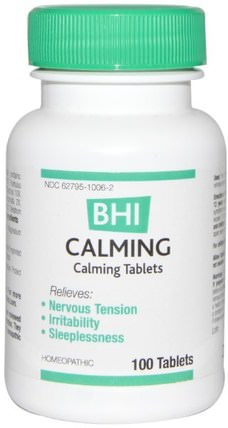 BHI, Calming, 100 Tablets by MediNatura, 健康,焦慮,medinatura bhi HK 香港