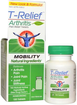 T-Relief, Arthritis Pain Relief Tablets, 100 Tablets by MediNatura, 健康,關節炎,補品,順勢療法緩解疼痛 HK 香港
