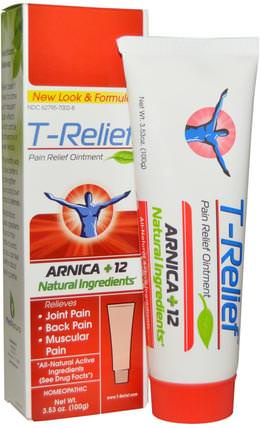 T-Relief, Pain Relief Ointment, 3.53 oz (100 g) by MediNatura, 補品,順勢療法,抗疼痛 HK 香港