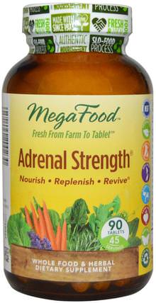 Adrenal Strength, 90 Tablets by MegaFood, 補充劑,腎上腺支持 HK 香港