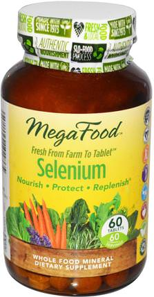 DailyFoods, Selenium, 60 Tablets by MegaFood, 補充劑,抗氧化劑,硒 HK 香港