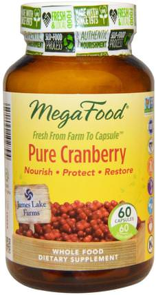 Pure Cranberry, 60 Capsules by MegaFood, 草藥,蔓越莓 HK 香港