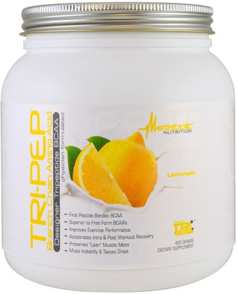 Tri-Pep, Branch Chain Amino Acid, Lemonade, 400 g by Metabolic Nutrition, 運動,補品,bcaa(支鏈氨基酸) HK 香港