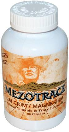 Mezotrace, Calcium / Magnesium, Natural Minerals & Trace Elements, 180 Tablets 補品,礦物質,鈣