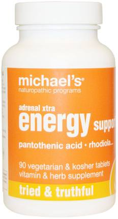Adrenal Xtra Energy Support, 90 Veggie Tabs by Michaels Naturopathic, 健康,能量,補品,腎上腺 HK 香港