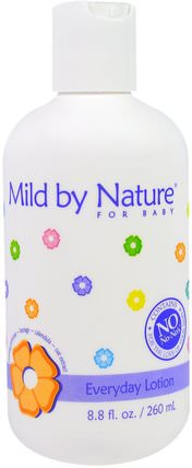 For Baby, Everyday Lotion, 8.8 fl oz (260 ml) by Mild By Nature, 洗澡,美容,潤膚露,嬰兒潤膚露 HK 香港
