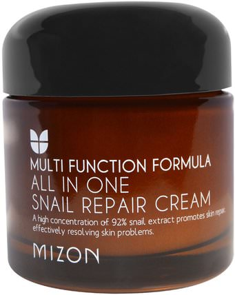 All In One Snail Repair Cream, 2.53 oz (75 ml) by Mizon, 洗澡,美容,面部護理,面霜,乳液 HK 香港