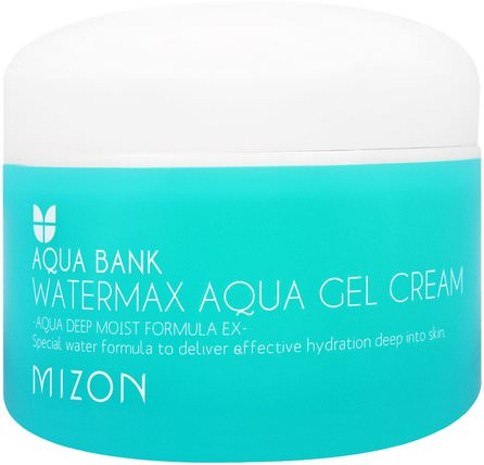 Aqua Bank, Watermax Aqua Gel Cream, 4.22 oz (125 ml) by Mizon, 洗澡,美容,面部護理,面霜,乳液 HK 香港