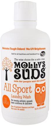 All Sport Laundry Wash, 32 fl oz (964.35 ml) by Mollys Suds, 洗澡,美容,肥皂,家居,洗衣粉 HK 香港