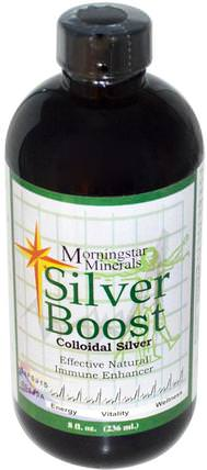 Silver Boost, Colloidal Silver, 8 fl oz (236 ml) by Morningstar Minerals, 補充劑,膠體銀 HK 香港