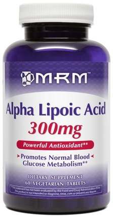 Alpha Lipoic Acid, 300 mg, 60 Veggie Tabs by MRM, 補充劑,抗氧化劑,α硫辛酸,α硫辛酸300毫克 HK 香港