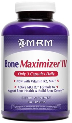 Bone Maximizer III, 150 Capsules by MRM, 健康,骨骼,骨質疏鬆症 HK 香港