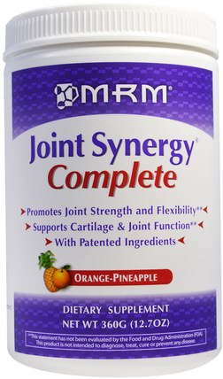 Joint Synergy Complete, Orange-Pineapple, 12.7 oz (360 g) by MRM, 健康,骨骼,骨質疏鬆症,關節健康 HK 香港
