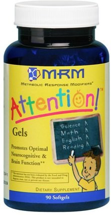Kids Attention! Softgels, 90 Softgels by MRM, 兒童的健康,大腦 HK 香港