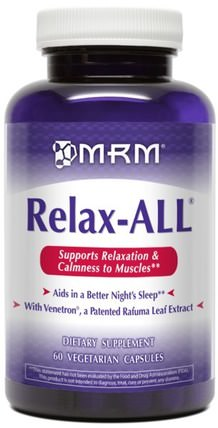 Relax-All, 60 Veggie Caps by MRM, 健康,焦慮,phenibut HK 香港
