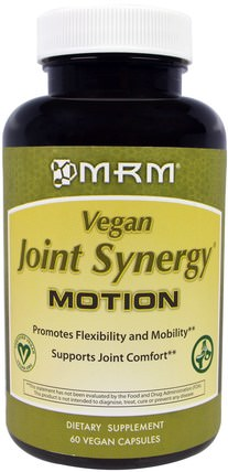 Vegan Joint Synergy, Motion, 60 Vegan Caps by MRM, 健康,骨骼,骨質疏鬆症,關節健康 HK 香港