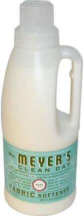Fabric Softener, Basil Scent, 32 fl oz (946 ml) by Mrs. Meyers Clean Day, 家,洗衣,織物柔軟劑 HK 香港