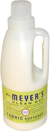 Fabric Softener, Lemon Verbena Scent, 32 fl oz (946 ml) by Mrs. Meyers Clean Day, 家,洗衣,織物柔軟劑 HK 香港