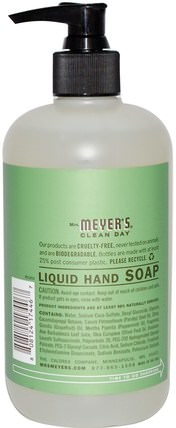 Liquid Hand Soap, Parsley Scent, 12.5 fl oz (370 ml) by Mrs. Meyers Clean Day, 洗澡,美容,肥皂 HK 香港