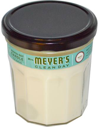 Scented Soy Candle, Basil Scent, 7.2 oz by Mrs. Meyers Clean Day, 洗澡,美容,蠟燭 HK 香港