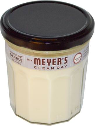Scented Soy Candle, Lavender Scent, 7.2 oz by Mrs. Meyers Clean Day, 洗澡,美容,蠟燭 HK 香港