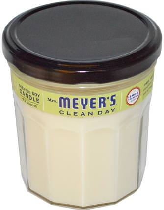 Scented Soy Candle, Lemon Verbena Scent, 7.2 oz by Mrs. Meyers Clean Day, 洗澡,美容,蠟燭 HK 香港