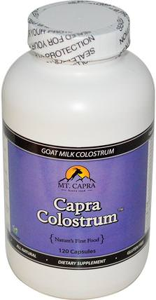 CapraColostrum, Goat Milk Colostrum, 120 Capsules by Mt. Capra, 補充劑,牛製品,初乳,超級食品,山羊乳清礦物質 HK 香港