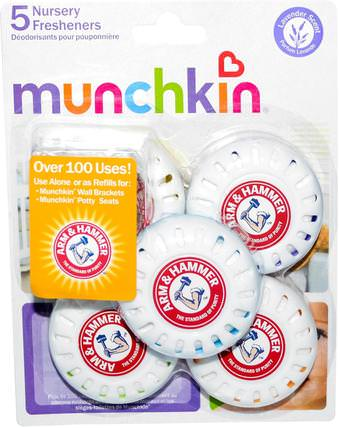 Arm & Hammer, Nursery Fresheners, Lavender Scent, 5 Deodorizers by Munchkin, 家裡,空氣清新劑除臭劑 HK 香港