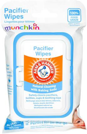 Arm & Hammer, Pacifier Wipes, 36 Wipes, 4 in x 6 in Each by Munchkin, 兒童健康,嬰兒,兒童,奶嘴,兒童食品 HK 香港