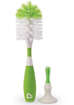 Munchkin, Bristle Bottle Brush, Green, 1 Brush 兒童健康,兒童食品,嬰兒餵養和清潔