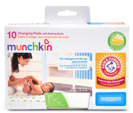 Changing Pads with Baking Soda, 10 Pack by Munchkin, 兒童健康,嬰兒,兒童,嬰兒旅行配件 HK 香港