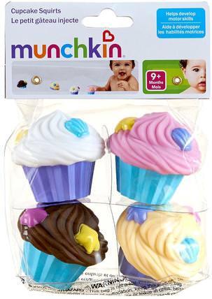 Cupcake Squirts, 4 Toys by Munchkin, 兒童健康,兒童玩具,洗澡玩具 HK 香港