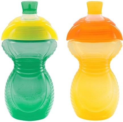 Reinforced Bite Proof Color Band, Sippy Cups, 9+ Months, 2 Pack, 9 oz (266 ml) Each by Munchkin, 兒童健康,兒童食品 HK 香港