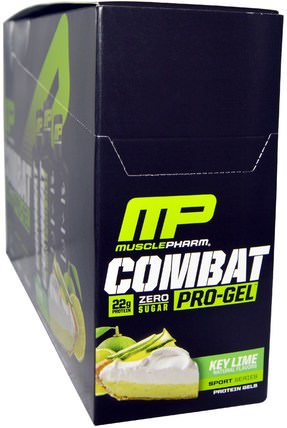 Combat, Pro-Gel, Key Lime, 12 Protein Gels, 1.62 oz (46 g) Each by MusclePharm, 健康,能量,運動,運動 HK 香港