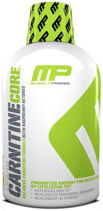 MusclePharm, Liquid Carnitine Core, Citrus, 16 oz (473 ml) 補充劑,氨基酸,左旋肉鹼,左旋肉鹼液