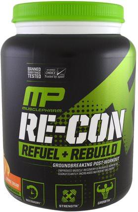 MusclePharm, Re-Con Refuel + Rebuild, Orange Cream, 35.98 oz (1.02 kg) 運動,肌酸