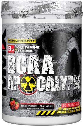 BCAA Apocalypse, Intra-Workout, B12 + Glutamine + Taurine, Red Punch Napalm, 17.63 oz (500 g) by MuscleMaxx, 運動,補品,bcaa(支鏈氨基酸) HK 香港