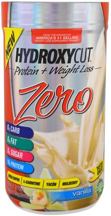 Hydroxycut Zero Protein + Weight Loss, Vanilla, 1.0 lbs (454 g) by Muscletech, 減肥,飲食,運動 HK 香港