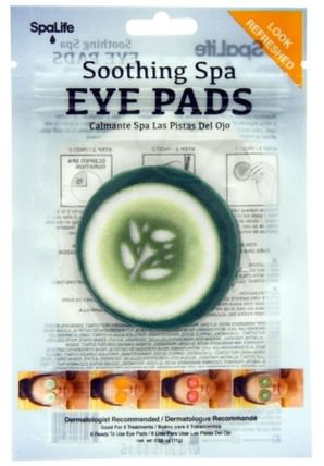 Soothing Spa Eye Pads, Cucumber, 4 Treatments by My Spa Life, 美容,眼霜 HK 香港