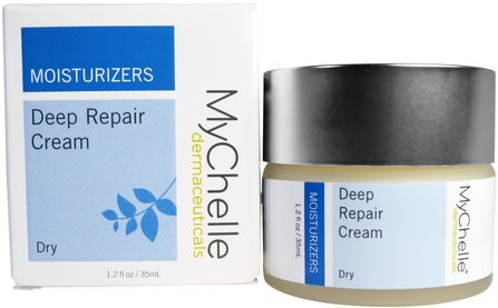 Deep Repair Cream, Dry, 1.2 fl oz (35 ml) by MyChelle Dermaceuticals, 美容,面部護理,面霜,乳液 HK 香港
