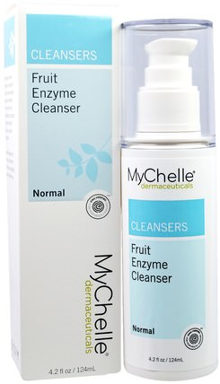Fruit Enzyme Cleanser, Normal, 4.2 fl oz (124 ml) by MyChelle Dermaceuticals, 美容,面部護理,皮膚,洗面奶 HK 香港