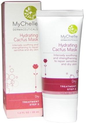 MyChelle Dermaceuticals, Hydrating Cactus Mask, 1.2 fl oz (35 ml) 美容,面部護理,皮膚型酒渣鼻,敏感皮膚,面膜