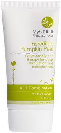 Incredible Pumpkin Peel, All / Combination, Step 2, Treatment, 1.2 fl oz (35 ml) by MyChelle Dermaceuticals, 美容,面部護理,皮膚,面膜,糖,水果面膜 HK 香港