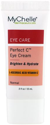 Perfect C Eye Cream.5 fl oz (15 ml) by MyChelle Dermaceuticals, 美容,透明質酸皮膚,眼霜 HK 香港