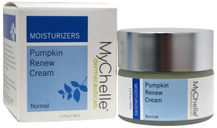 Pumpkin Renew Cream, Moisturizers, Normal, 1.2 fl oz (35 ml) by MyChelle Dermaceuticals, 美容,面部護理,皮膚 HK 香港